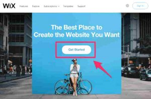 hacer un sitio web con wix