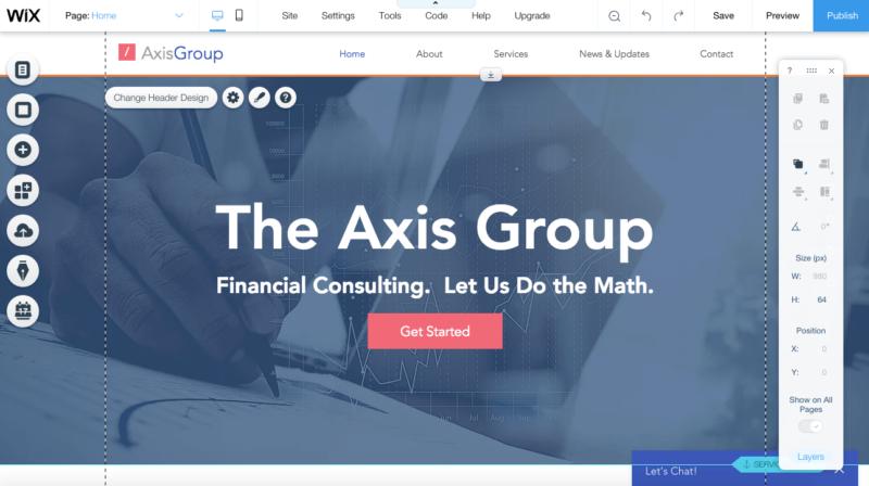 Crear un sitio web Wix paso 3