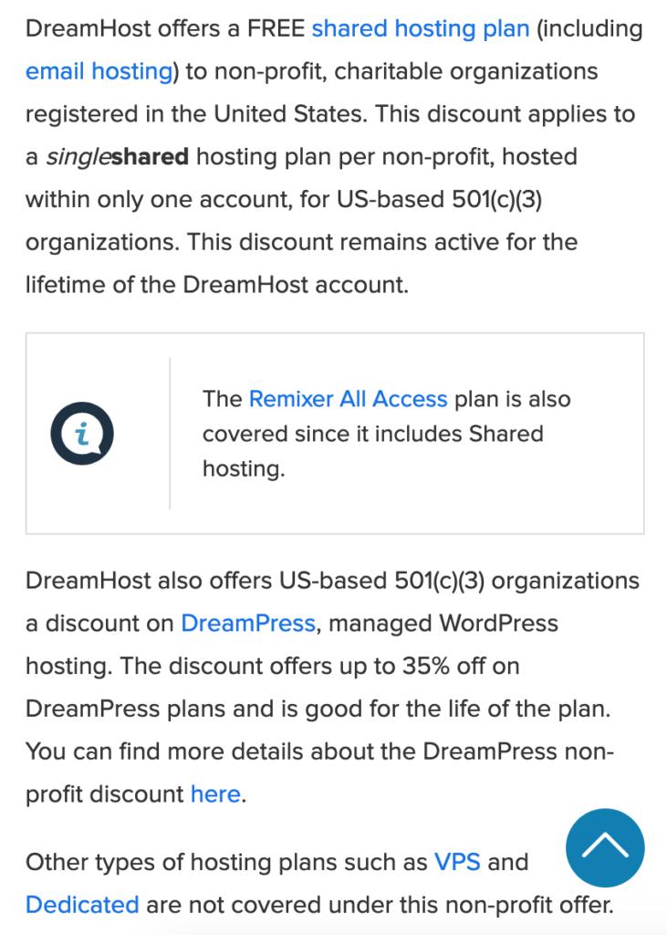 DreamHost tiene un gran descuento para organizaciones sin fines de lucro