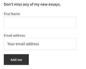 Ejemplo de correo electrónico de Optin