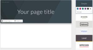 Los seis temas disponibles en Google Sites