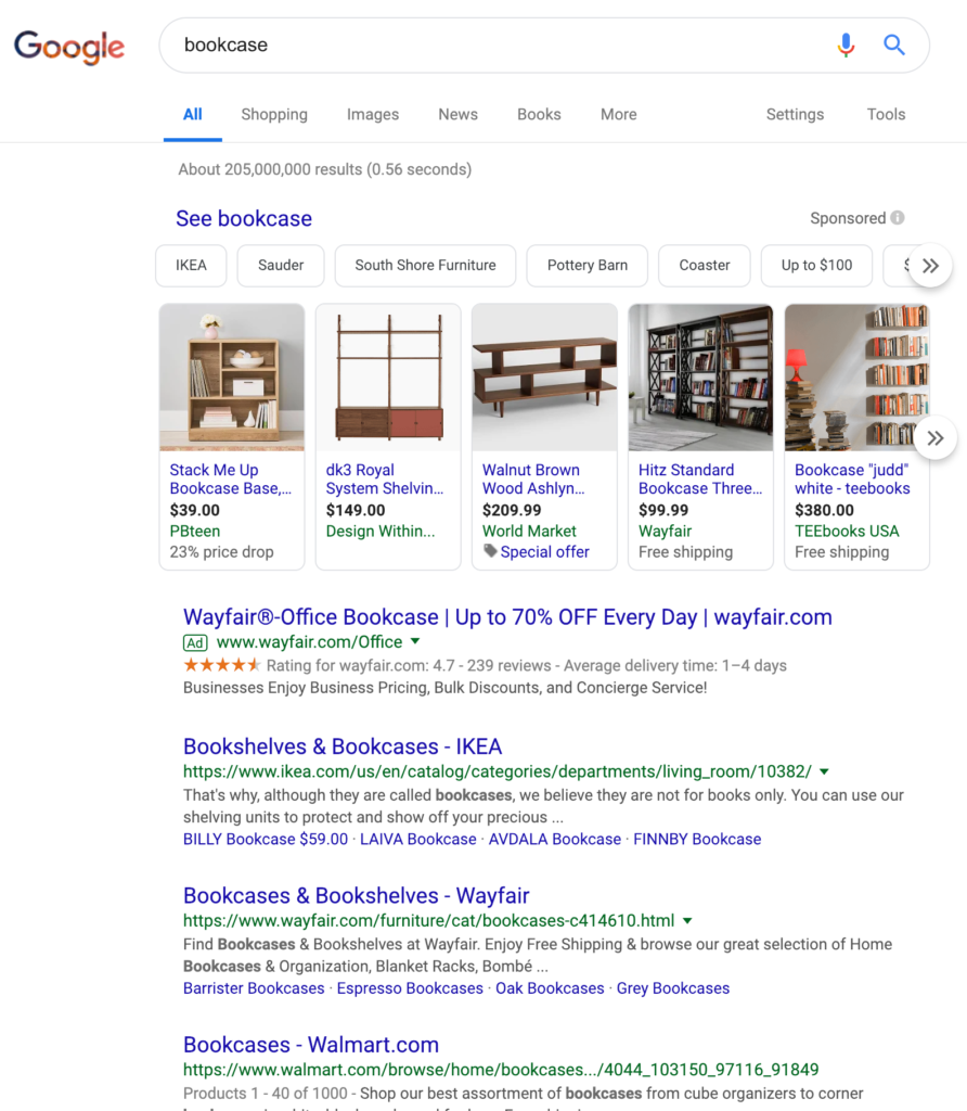 Google Search Marketing - Librería