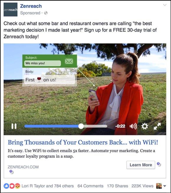 anuncios de video de facebook