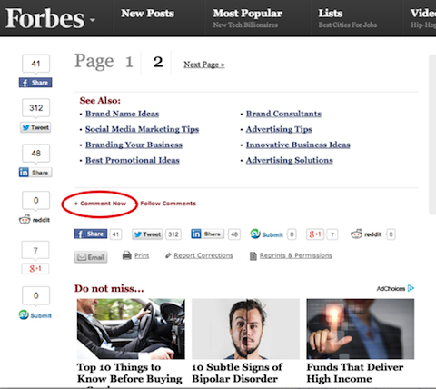 comentar Forbes