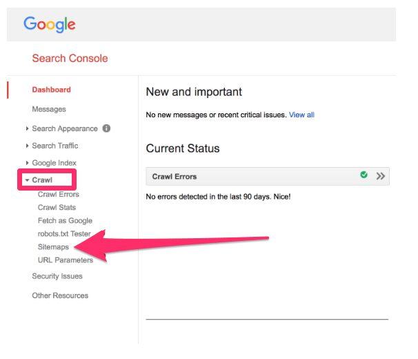 Consola de busqueda de google
