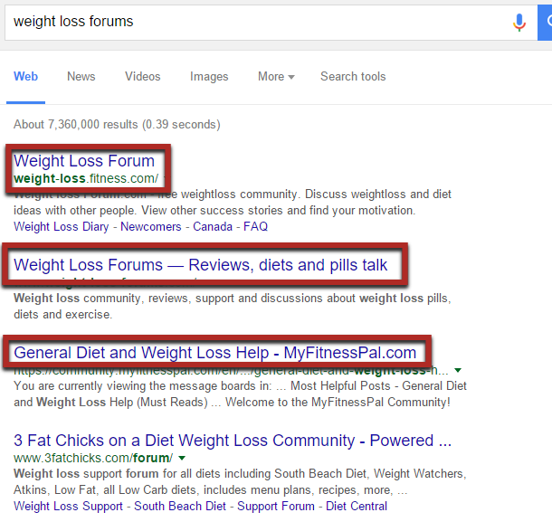 busqueda en google para bajar de peso