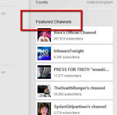 canal destacado de YouTube